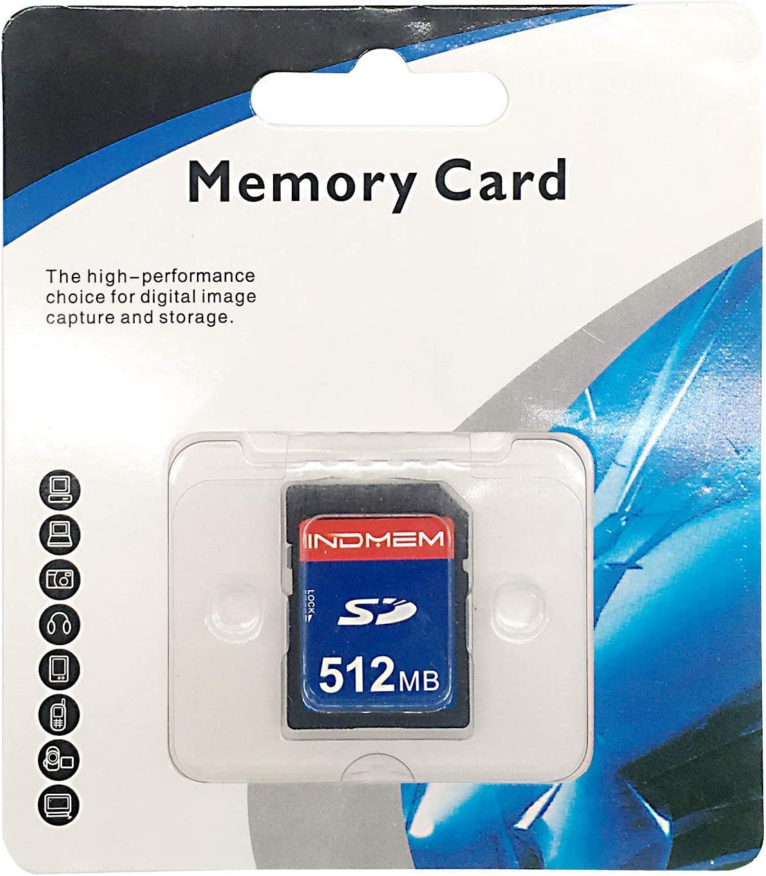INDMEM SD Card 512MB Class 4 SLC Secure Digital Flash Memory Card Camera Card