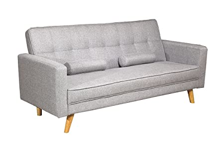Boston Modern Fabric Upholstered Seater Sofa Bed Charcoal Or Light - Sofa bed for everyday sleeping