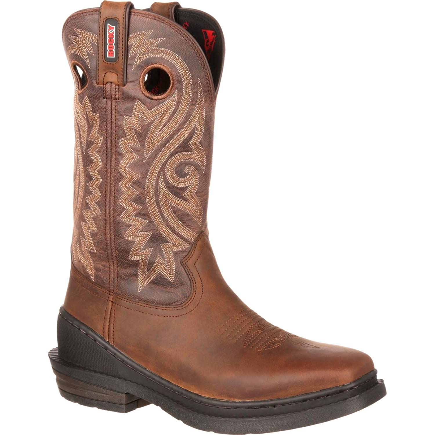 """Rocky Men's 12"""" spurs OutRidge One-Ton Western Boot-RKW0147"""