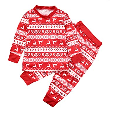 alljoin family matching christmas pajamas set adults kids newborn romper tops pant kids