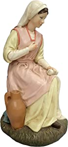 Ferrari & Arrighetti Nativity Scene Statue: Virgin Mary - Martino Landi Collection - 50cm / 19.69in Line