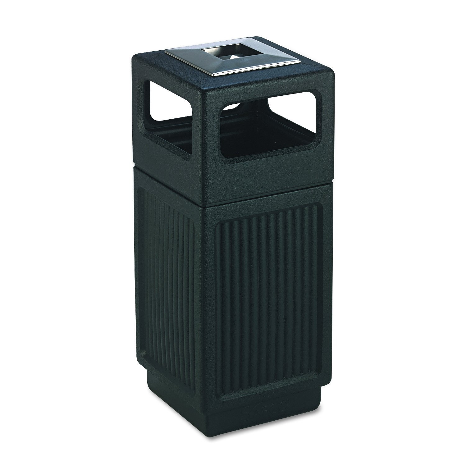 commercial trash can restaurant tray receptacle large garbage waste bin ash urn 691196311126 ebay. Black Bedroom Furniture Sets. Home Design Ideas