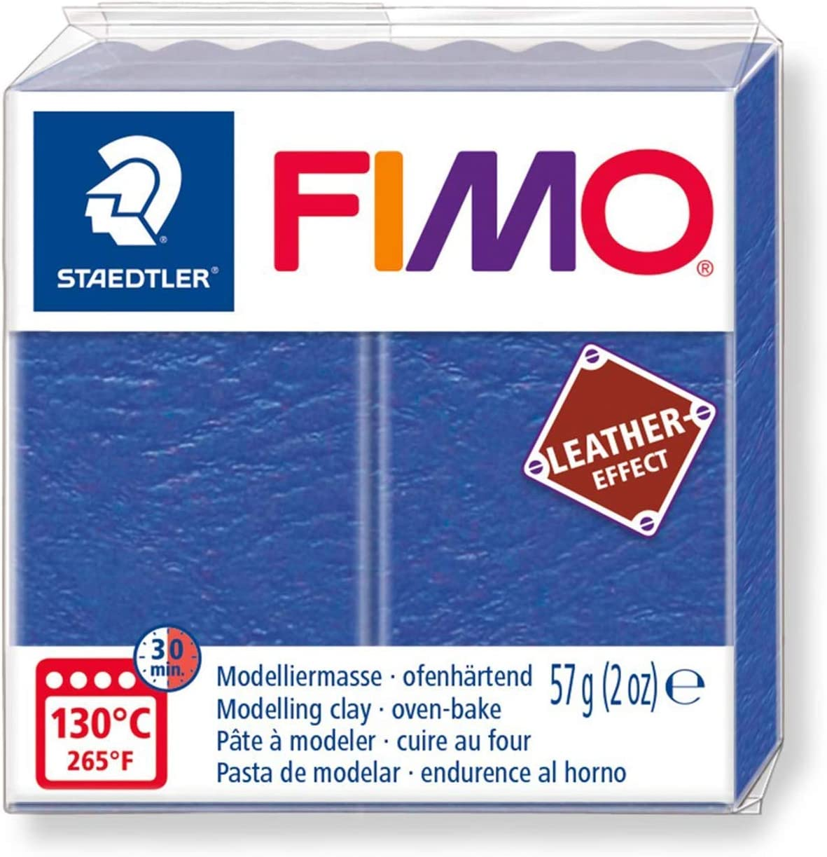 57g Primary Colours Staedtler Fimo Leather Effect Polymer Oven Modelling Clay Set of 4