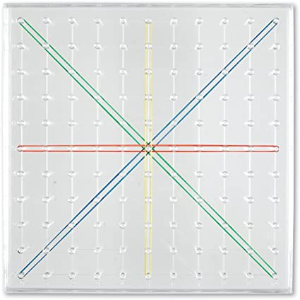 Plastic Transparent Geoboard Learning Resources Elastic Bands  Geometry Practic