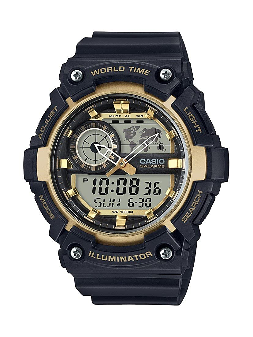 Casio Youth-Combination Analog-Digital Gold Dial Best Mens Watches Under 5000 in India to buy in 2019 - Reviews & Buyers Guide