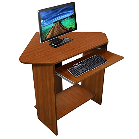 Lyndan Spearfish Noyer Rémora Des Coin Ordinateur Table Bureau