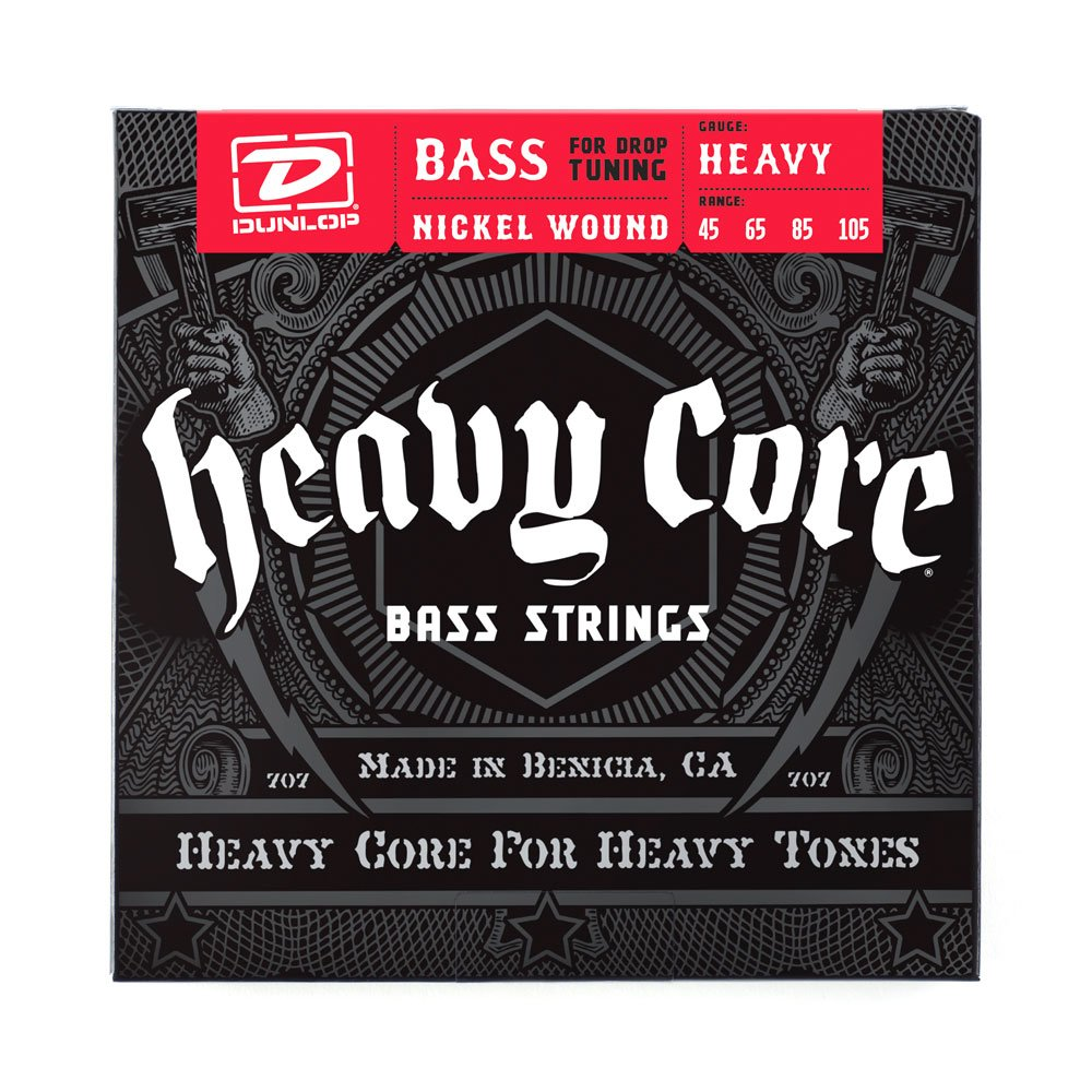Dunlop DBHCN55120 Heavy Core Electric Bass Strings, Heaviest