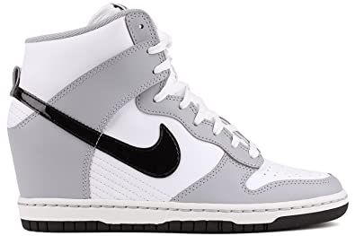 new product b0d48 1a90a Image Unavailable. Image not available for. Colour  Nike Dunk Sky Hi  Women s Sneakers (6.5, Wolf Gray Black-White)