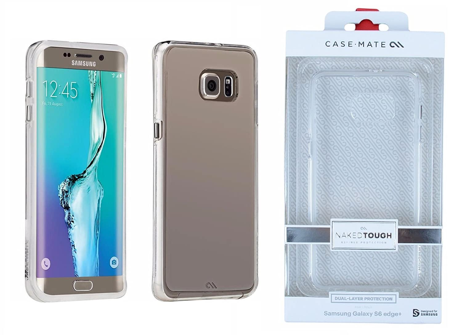 best service 67c2e c1011 Case-Mate Naked Tough Cell Phone Case for Samsung Galaxy S6 Edge Plus -  Retail Packaging - Clear