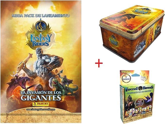 Panini Tin Box 50 Cartas Fantasy Riders + MEGAPACK Lanzamiento Fantasy Riders + 7 Sobres: Amazon.es: Juguetes y juegos