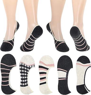 Femmes Invisible Chaussettes No Show Shoe formateur Liners 6 Paires Adultes Femme 4-8
