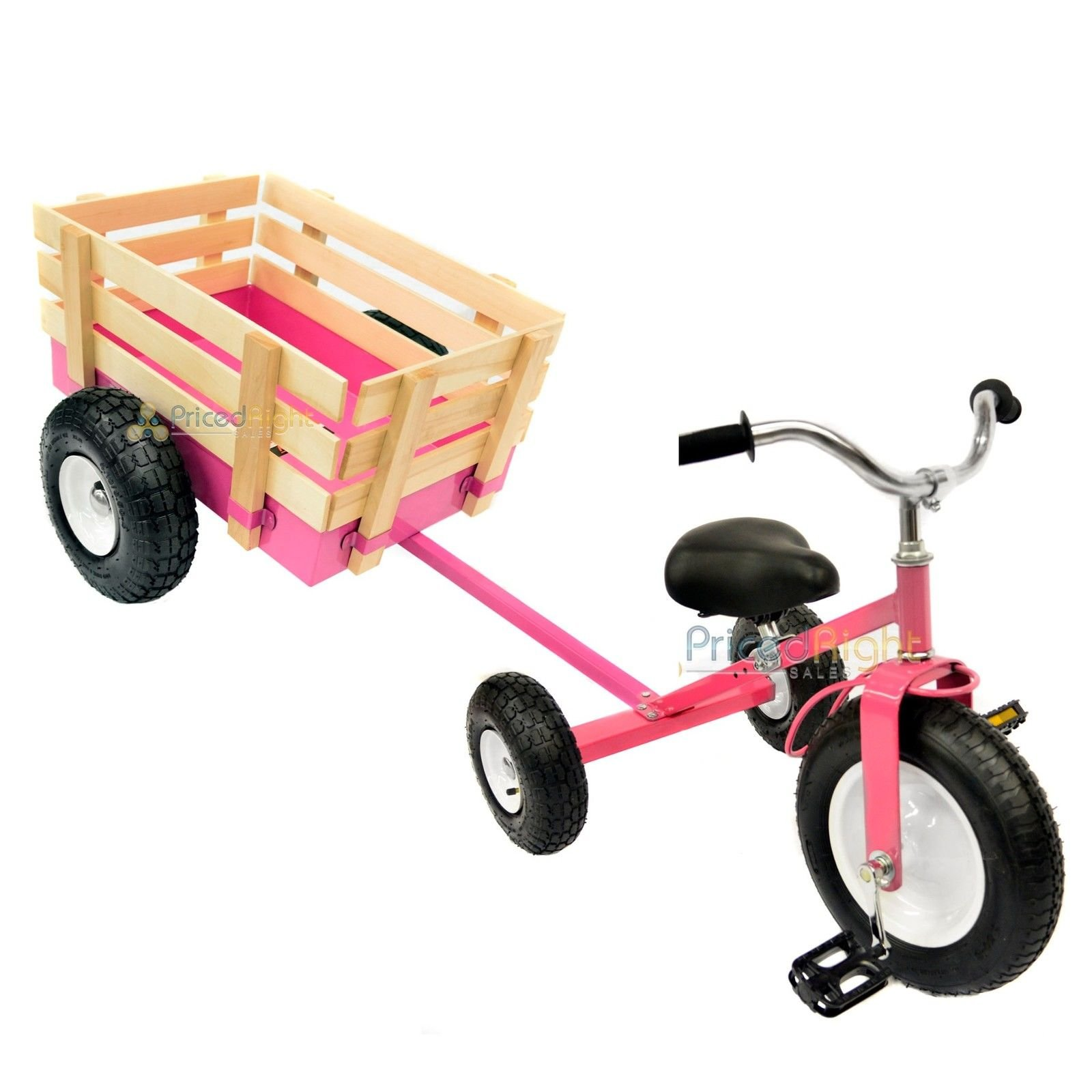 All Terrain Tricycle with Wagon (Pink), #CART-042P
