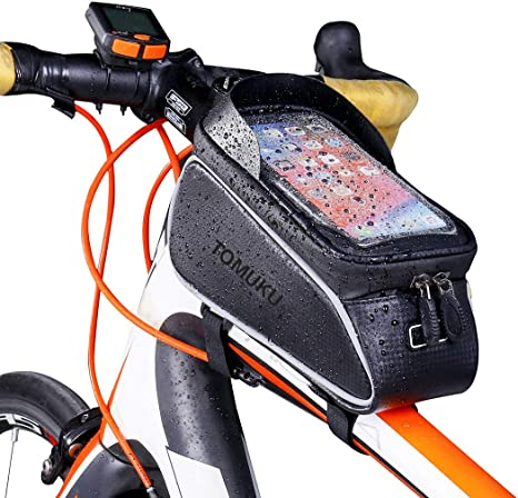 6 inch Cycling Bags Bicycle Frame Pannier Bike Bag for Cell Phone Waterproof New