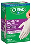 Curad CUR4125R Latex Exam Gloves, One Size Fits