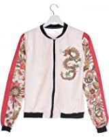 Women Bomber Jacket Printing Chinese Dragon Chaquetas Mujer Fashion Jackets Outwear for Women Basic Coats