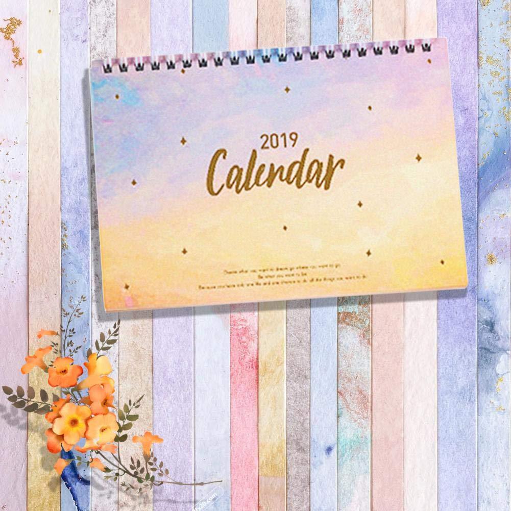 Ini Calendario familiare santi e settimane Press L/'Organizza Famiglia 2019 calendario da muro in italiano con vista settimanale con 6 colonne Calendario 2019 da tavolo per casa e ufficio con lune