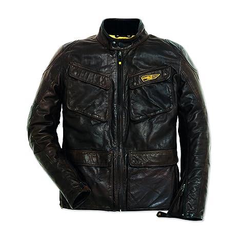1302e7ebbbc Ducati Scrambler Chaqueta de piel quattrotasche  Amazon.es  Coche y moto