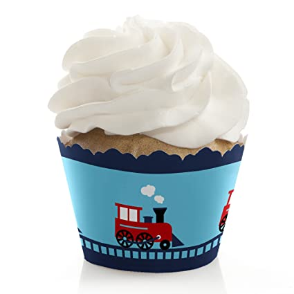 Amazon.com: Tren – Bebé Ducha o fiesta de cumpleaños Cupcake ...