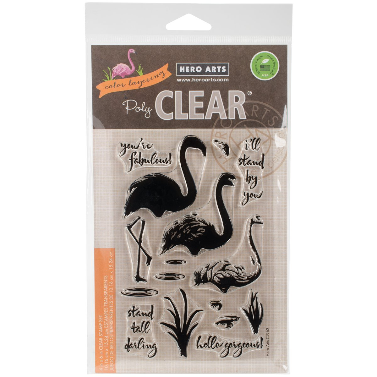 Hero Arts Cl962 Clear Stamps, Multi Colour, 4 X 6 Inch by Amazon