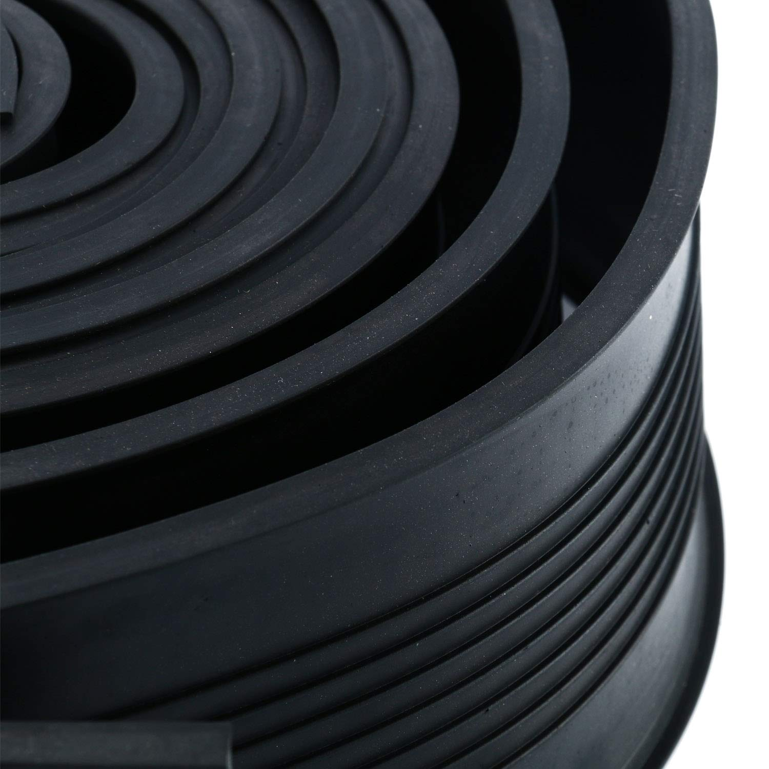 Homend Garage Door Bottom Weather Stripping Rubber Seal Strip Replacement, 5/16'' T Ends, 3 3/4'' Width X 20 Feet Lenth (Black) by Homend (Image #8)