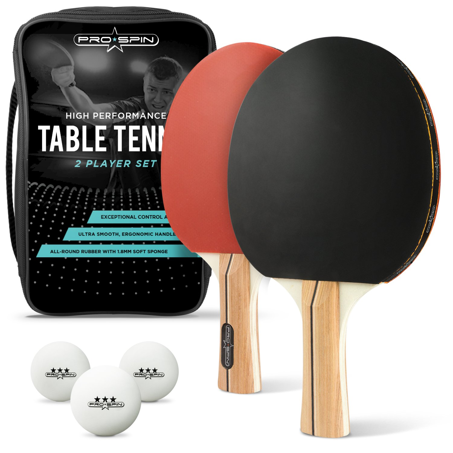Miraculous Pro Spin Ping Pong Paddle Set 2 High Performance Paddles Rackets 3 Pro Table Tennis Balls Premium Storage Case Professional Table Tennis Set For Download Free Architecture Designs Embacsunscenecom