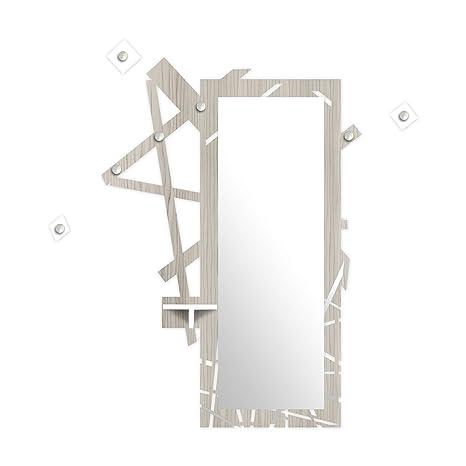 Laser Art Style Specchio da muro Moderno con mensola e appendiabiti ...