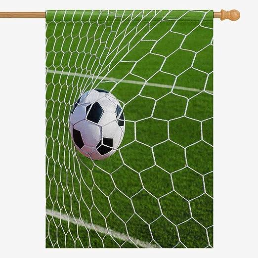 InterestPrint Balón de Fútbol en el Estadio de Campo de Fútbol con ...