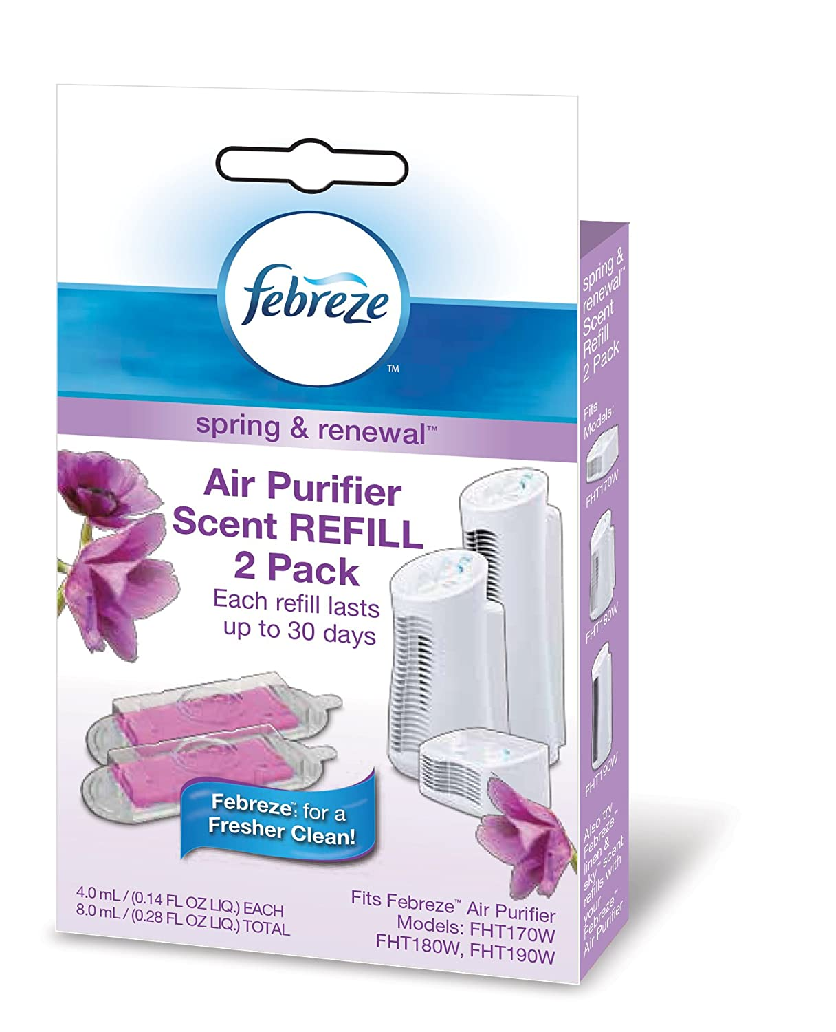 Febreze Scent Refill, Spring and Renewal, 2-Pack