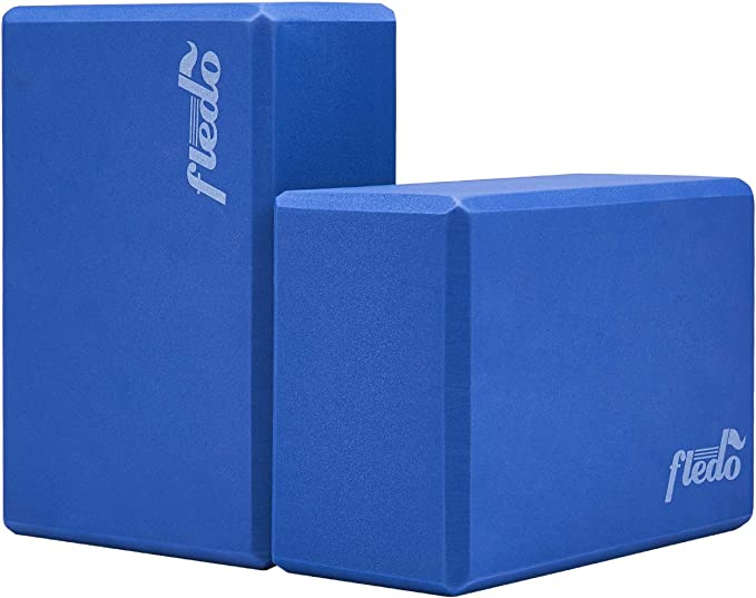 Stretch-Resistant EVA Foam Blocks for Yoga//Pilates//Meditation Non-Slip Surface for Improve Stretching and Aid Balance and Flexibility RICH-Po Yoga Blocks 1-Pack