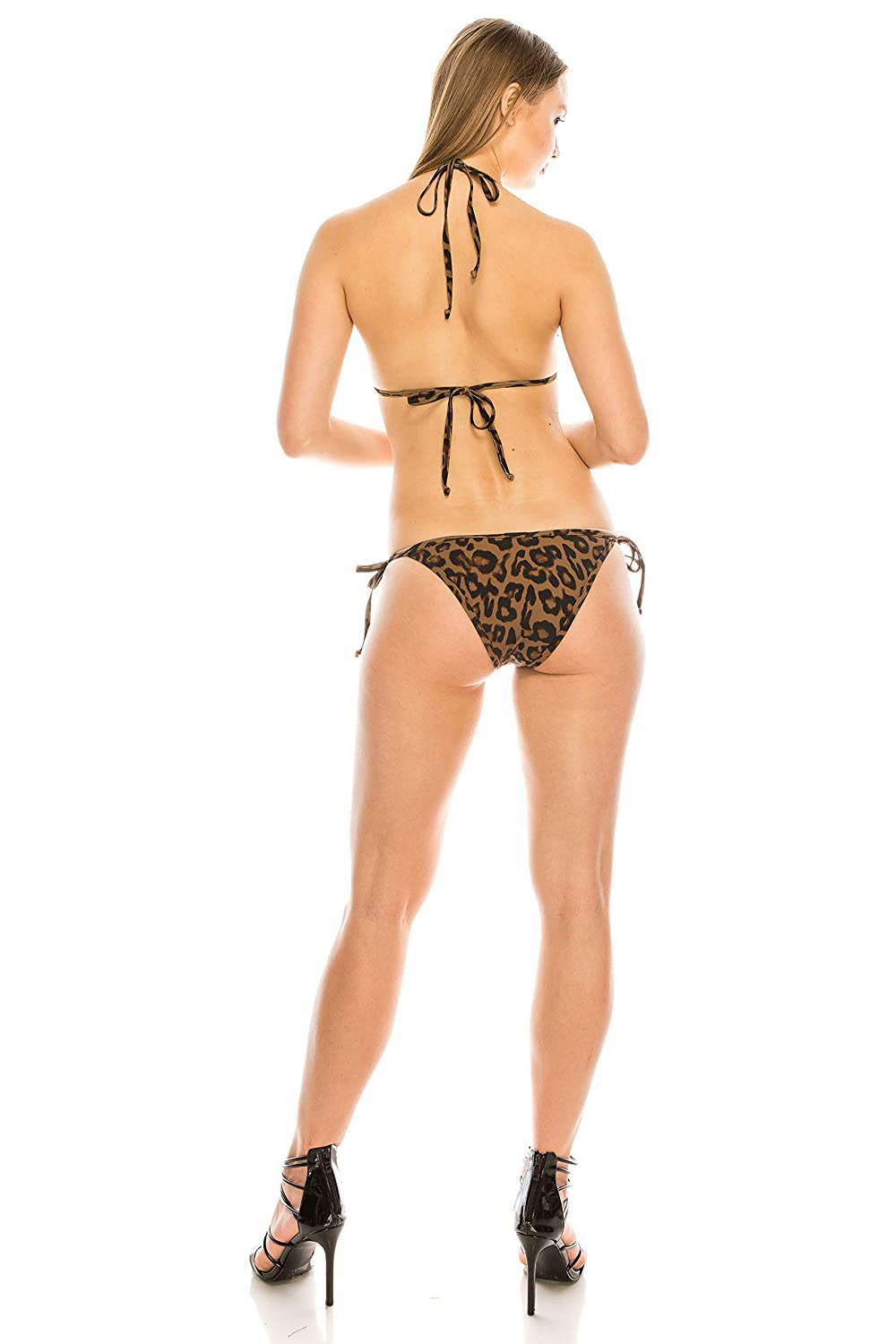 KYLIE Triangle 2 Piece Swimsuit KENDALL Leopard, XS