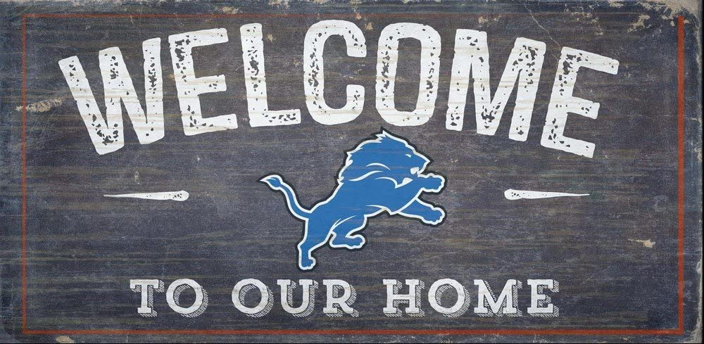 Fan Creations Detroit Lions Welcome Distressed 6 x 12 Multi