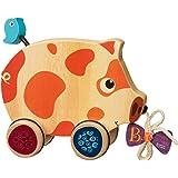 B.Toys 比乐 木制小猪拖拉玩具 手拉学步爬行玩具  婴幼儿童益智玩具 礼物 18个月+ BX1393Z