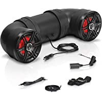 Sound Storm Laboratories BTB6L ATV UTV Weatherproof Sound System - 6.5 Inch Speakers, 1 Inch Tweeters, Amplified, Bluetooth, Aux-In, Multi Color Illumination, Easy Installation for 12 Volt Vehicles