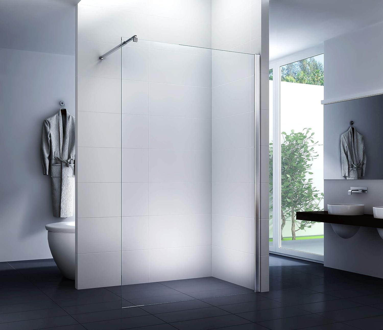 Mampara de ducha 110 x 200 cm Walk-In Cabina de ducha Ducha 10 mm Vidrio de seguridad: Amazon.es: Bricolaje y herramientas