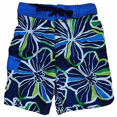 acade9372a Amazon.com: Joe Boxer Boys Navy Tropical Hawaiian Swim Trunks Board ...