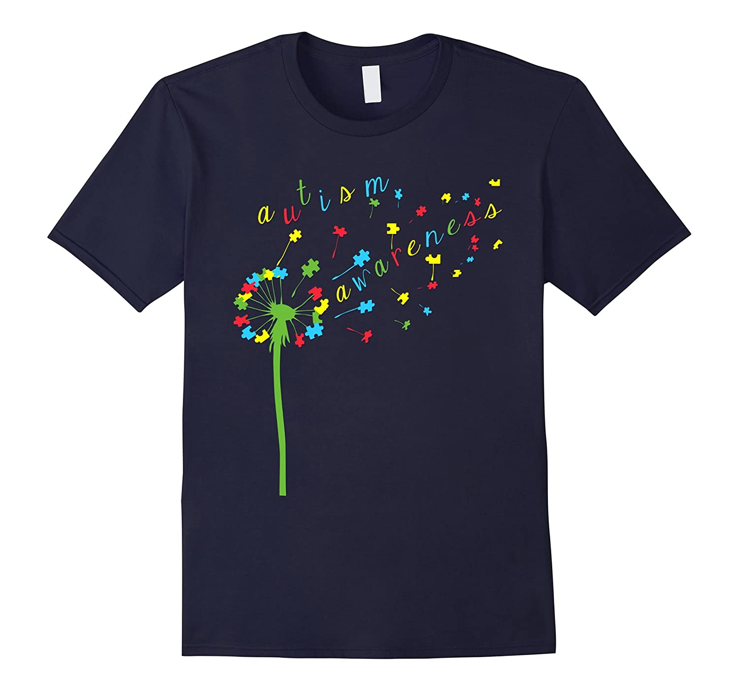 Autism Shirts - Autism Awareness Ribbon T-shirts MomDadKid-CD