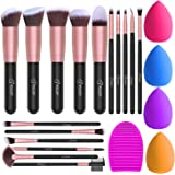 BESTOPE Makeup Brushes 16PCs Makeup Brushes Set with 4PCs Beauty Blender Sponge and 1 Brush Cleaner Premium Synthetic…
