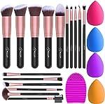 BESTOPE Makeup Brushes 16PCs Makeup Brushes Set with 4PCs Makeup Sponge