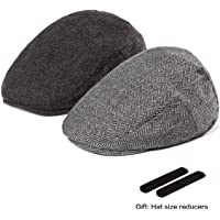 3b0e86ee LADYBRO Men Newsboy Cap Ivy Hat - 30% Wool Cabbie Hats for Men Irish Tweed