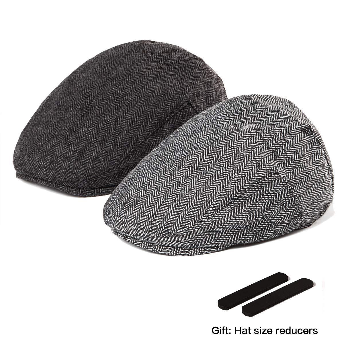 87123c730dc2c LADYBRO Men Newsboy Cap Ivy Hat - 30% Wool Cabbie Hats for Men Irish Tweed  Flat Cap at Amazon Men s Clothing store