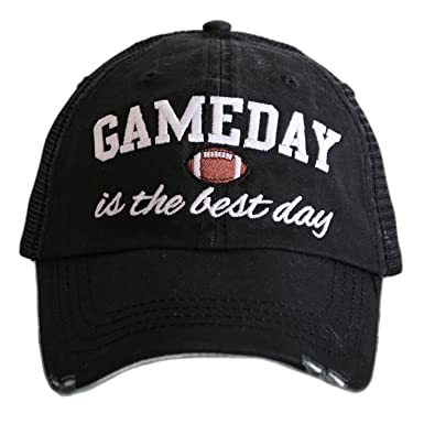 d7b39e9e369f5 Amazon.com  GameDay Is The Best Day Women s Trucker Hats Caps by Katydid   Clothing