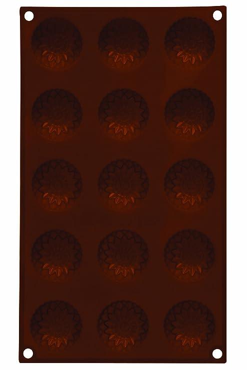 Premier Housewares - Molde antiadherente para chocolate (silicona, 15 unidades, forma de girasoles