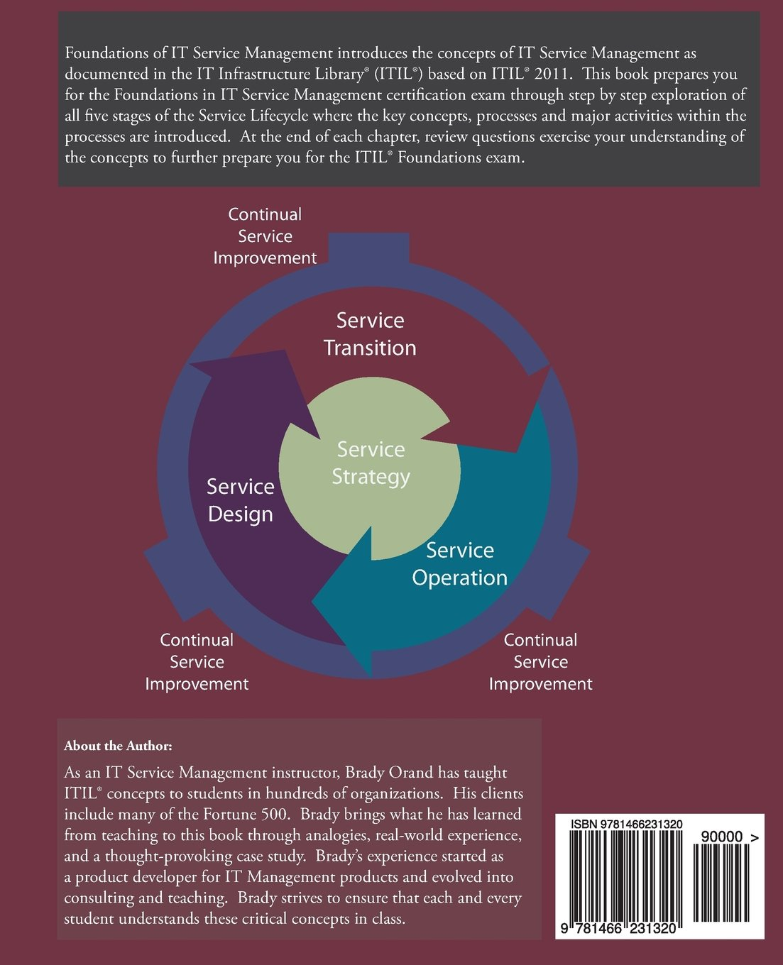 Foundations of it service management with itil 2011 itil foundations of it service management with itil 2011 itil foundations course in a book brady orand julie villarreal 9781466231320 books amazon 1betcityfo Choice Image