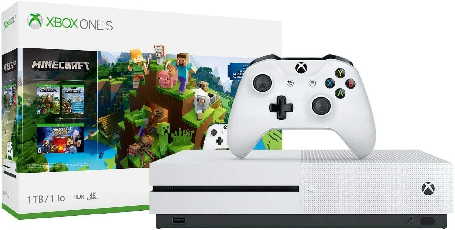 Console Xbox One S 9TB – Conjunto Minecraft