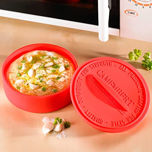 UPP Recipiente de silicona para microondas, horno, para hacer tortillas, con forma circular