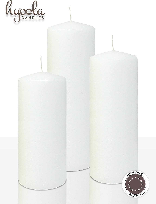 Blanc sans pilier bougie 50 H Burn Temps H10 x W7CM