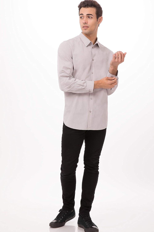 Chef Works Mens Modern Chambray Dress Shirt Button Down Shirt