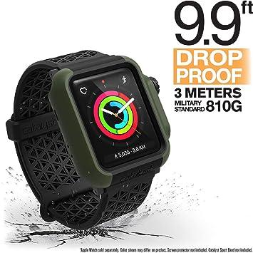 Catalizador para Apple Watch Series 3 y Serie 2 de 42mm - Protección contra Impactos a Prueba de Golpes [Caja Protectora Robusta iWatch], Verde ...