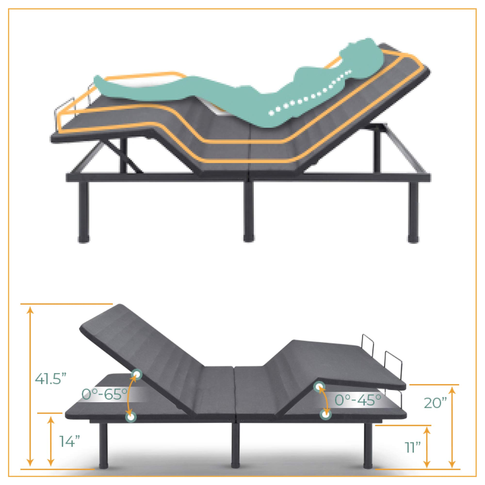 Classic Brands Adjustable Comfort Affordamatic 2.0 Adjustable Bed Base, Full by Classic Brands