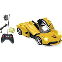Magicwand 1:16 Scale Rechargeable R/C Ferrari with Opening Doors (Yellow)
